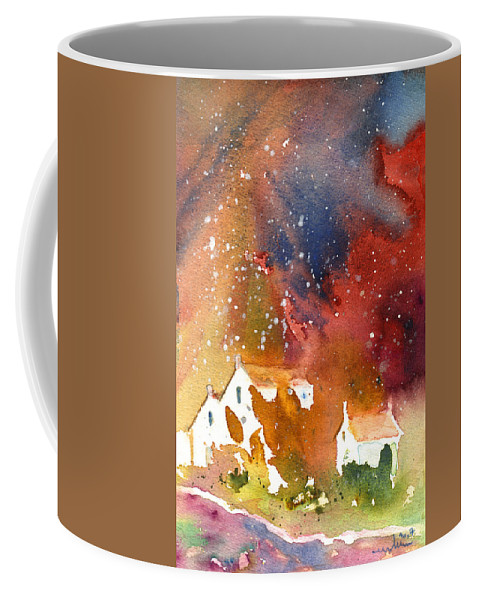 Watercolour Coffee Mug featuring the painting It Is Always Snowing Somewhere 01 by Miki De Goodaboom