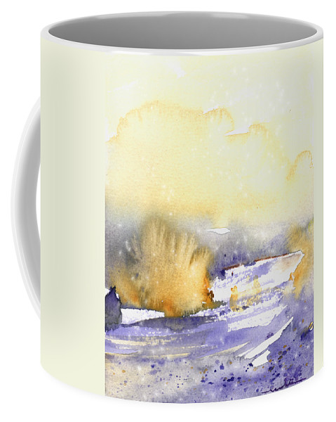 Watercolour Coffee Mug featuring the painting It Is Always Snowing Somewhere 02 by Miki De Goodaboom