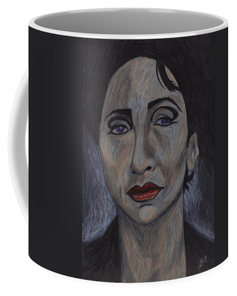 Woman Coffee Mug featuring the drawing Italian War Widow by Jean Haynes