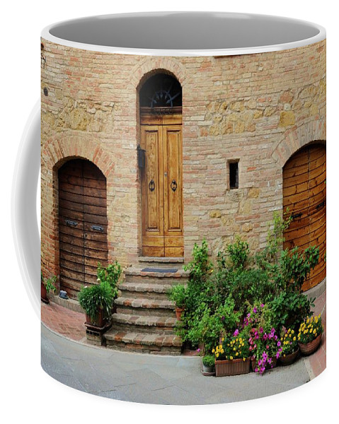 Europe Coffee Mug featuring the photograph Italy - Door Eight by Jim Benest