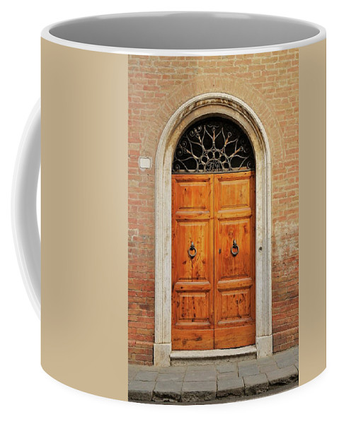 Europe Coffee Mug featuring the photograph Italy - Door Fifteen by Jim Benest