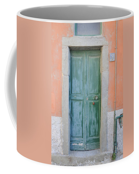 Europe Coffee Mug featuring the photograph Italy - Door Five by Jim Benest
