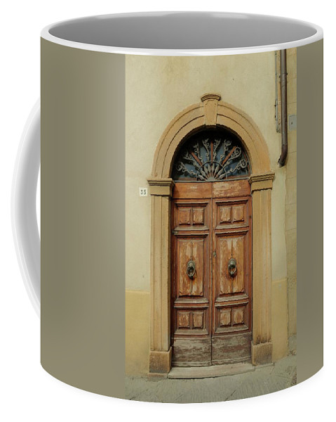 Europe Coffee Mug featuring the photograph Italy - Door One by Jim Benest