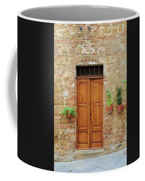 Europe Coffee Mug featuring the photograph Italy - Door Six by Jim Benest