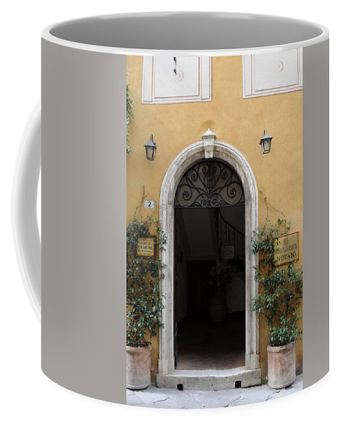 Europe Coffee Mug featuring the photograph Italy - Door Thirteen by Jim Benest