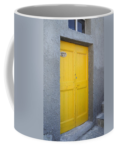 Europe Coffee Mug featuring the photograph Italy - Door Three by Jim Benest