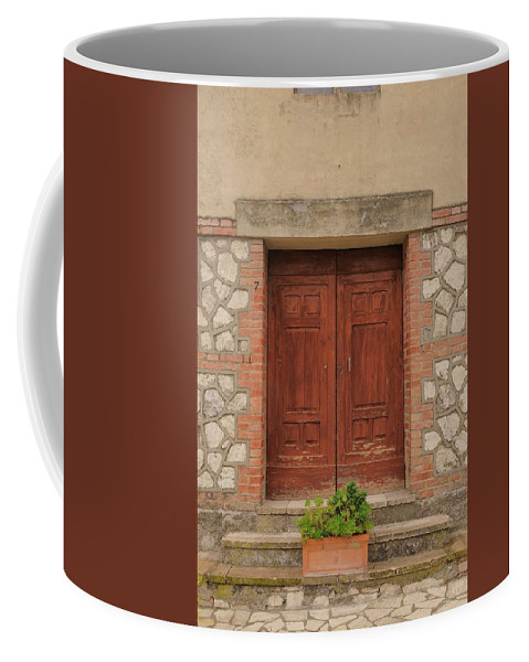 Italy Coffee Mug featuring the photograph Italy Door - Twenty Six by Jim Benest