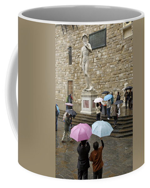Architecture Coffee Mug featuring the photograph Italy, Florence, Piazza Della Signora by Keenpress
