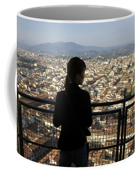 25-30 Years Coffee Mug featuring the photograph Italy, Florence, Tourist Looks by Sisse Brimberg & Cotton Coulson