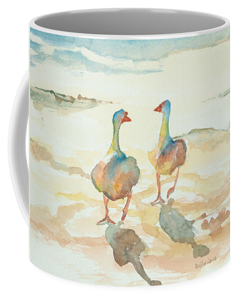 Watercolors For Sale Coffee Mug featuring the painting It's A Ducky Day by Debbie Lewis