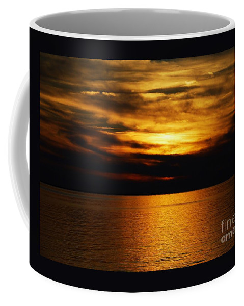 Sunset Art Deal Island Maryland Chesapeake Bay Outdoors Feng Shui Serene Travel Water Cloud Art Metal Frame Suggested Canvas Print Suitable Poster Print Available On Shower Curtains Phone Cases Mugs Tote Bags Throw Pillows T Shirts Duvet Covers Weekender Tote Bags Fleece Blankets And Pouches Coffee Mug featuring the photograph It's A Golden Deal by Marcus Dagan