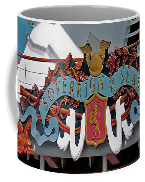 Cruise Coffee Mug featuring the digital art Its All In The Name by DigiArt Diaries by Vicky B Fuller
