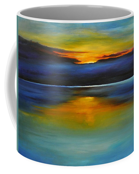 Sunset Coffee Mug featuring the painting Its Five Oclock Somewhere by Debbie Anderson