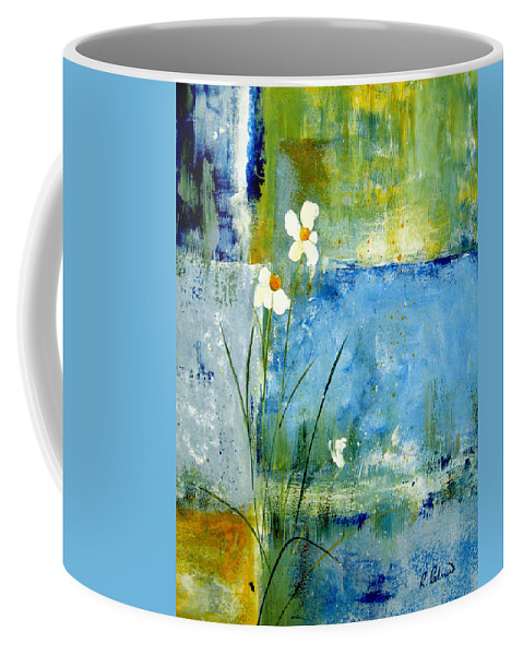 Abstract Coffee Mug featuring the painting It's Just You And Me by Ruth Palmer