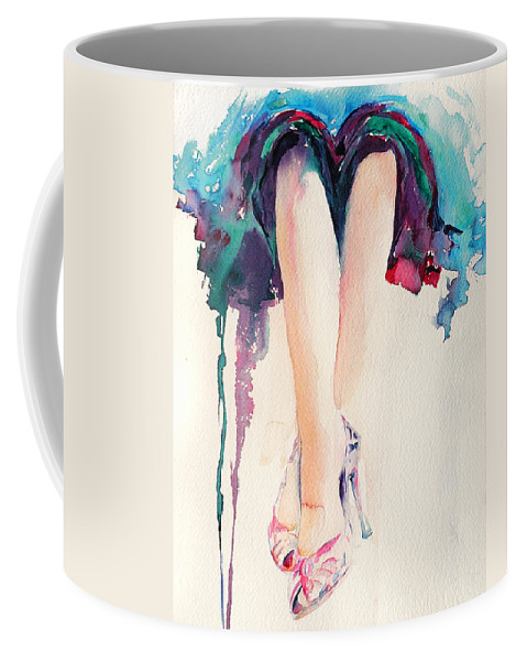Legs Coffee Mug featuring the painting It's Party Time by Stephie Butler
