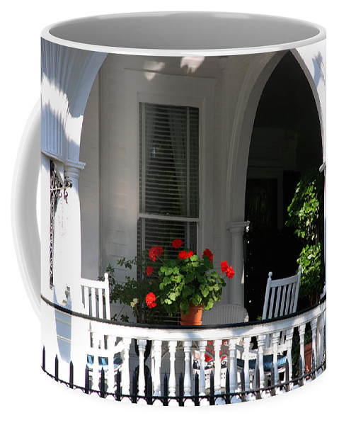Flowers Coffee Mug featuring the photograph It's Tea Time Now by Susanne Van Hulst