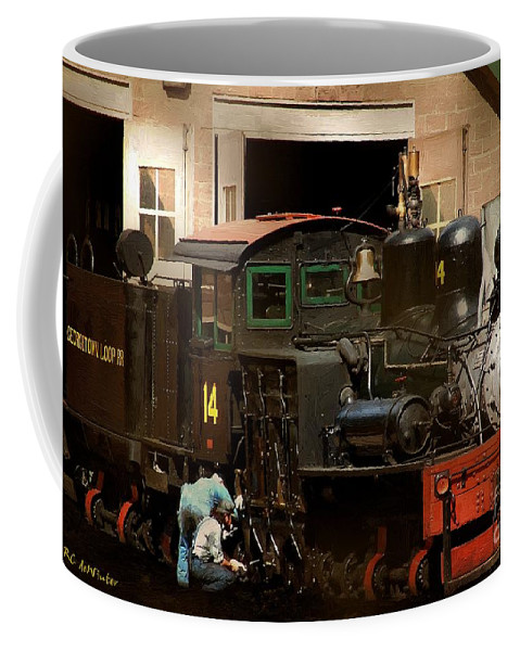 Colorado Coffee Mug featuring the painting I've Been Working On The Railroad by RC DeWinter