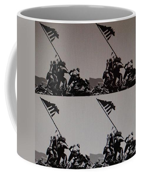 Pop Art Coffee Mug featuring the photograph Iwo Jima by Rob Hans