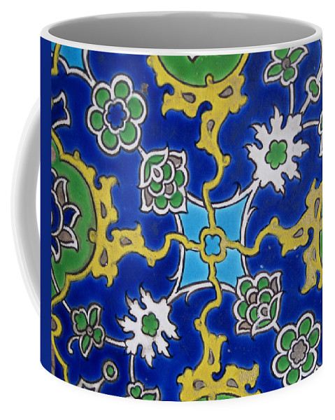 Iznik Tiles. 16th Coffee Mug featuring the photograph Iznik Tiles In Topkapi Palace Istanbul by Gonul Engin YILMAZ