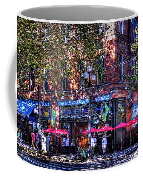 J&m Cafe Coffee Mug featuring the photograph J And M Cafe by David Patterson