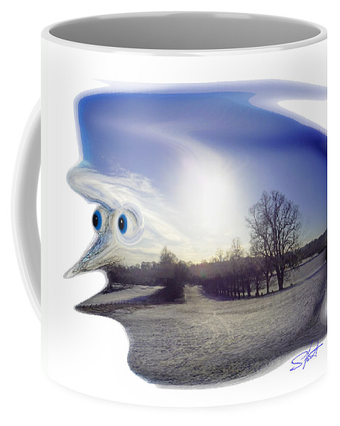 Face Coffee Mug featuring the photograph Jack Frost by Charles Stuart