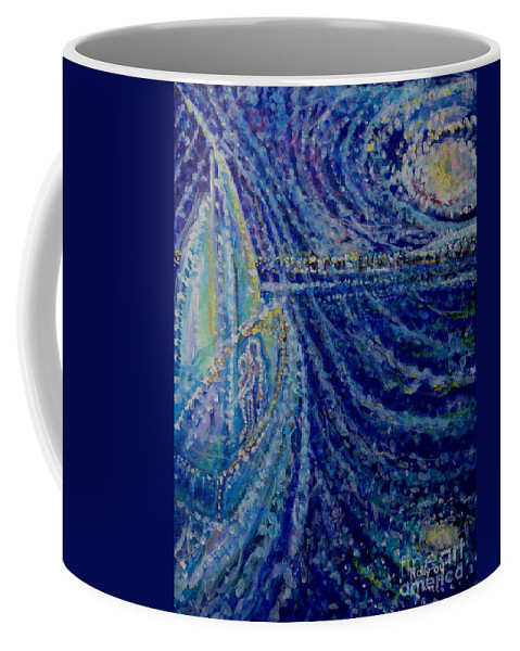 Ghost Ship Coffee Mug featuring the painting Ghost Ship by Holly Carmichael