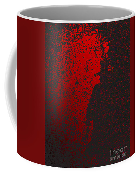 Jack The Ripper Coffee Mug featuring the digital art Jack The Ripper In Red Light by Bigalbaloo Stock