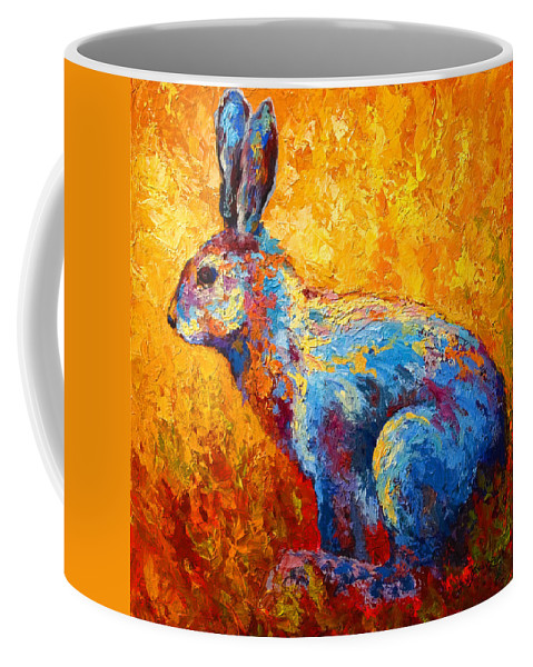 Rabbit Coffee Mug featuring the painting Jackrabbit by Marion Rose