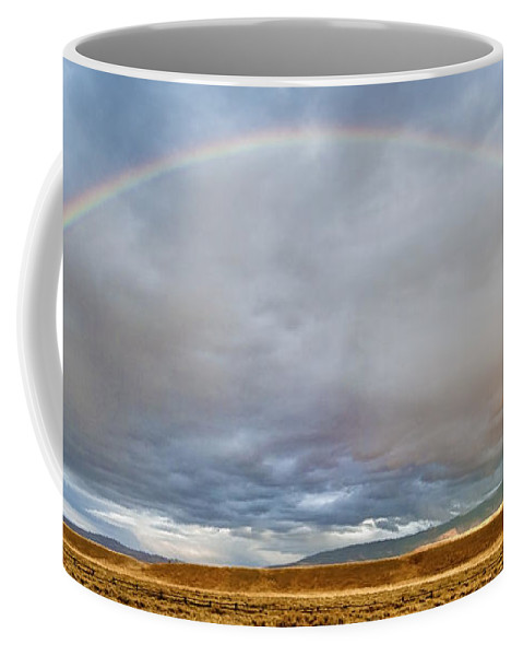 Grand Teton Coffee Mug featuring the photograph Jackson Hole Rainbow by Sandra Bronstein