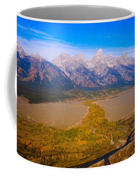 Tetons Coffee Mug featuring the photograph Jackson Hole Wy Tetons National Park Views by James BO Insogna