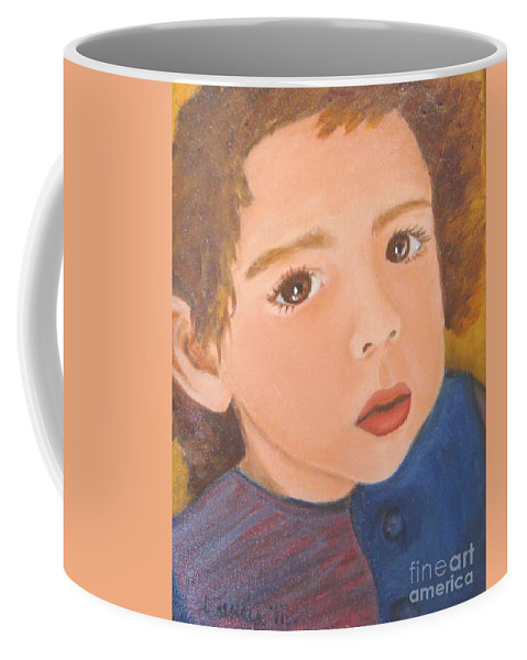 Portrait Coffee Mug featuring the painting Jackson by Laurie Morgan