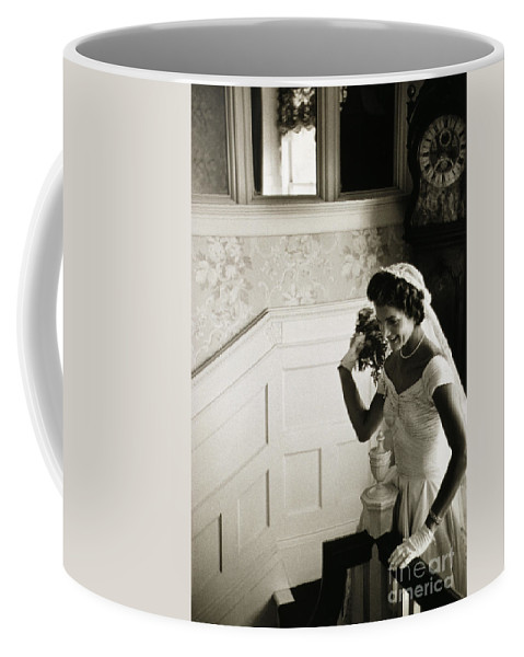 1953 Coffee Mug featuring the photograph Jacqueline Kennedy by Granger