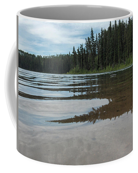 Jade Lake Piprell Lake Hanson Lake Road Northern Saskatchewan Water Clear Forest Trees Coffee Mug featuring the photograph Jade Lake by Andrea Lawrence