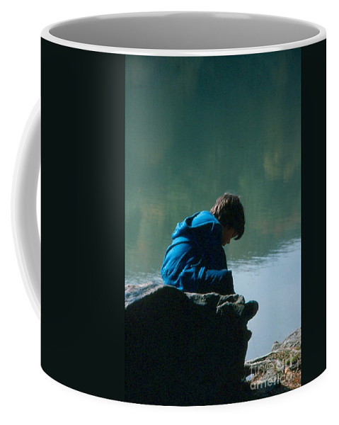 Silhouette Coffee Mug featuring the photograph Jadon Pondering by Penny Neimiller