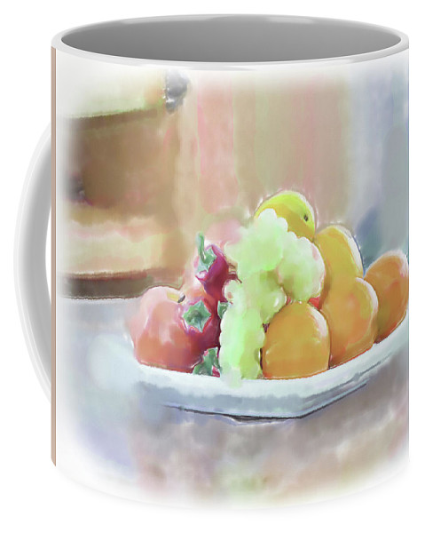 Still Life Coffee Mug featuring the painting Jaffa Fruits by Harald Hillemanns