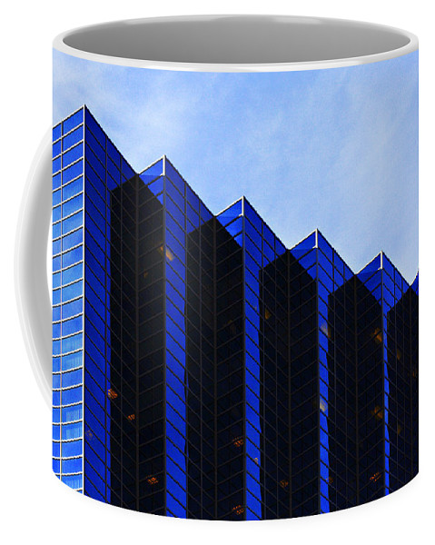 Architecture Coffee Mug featuring the photograph Jagged Sky Scraper by Marilyn Hunt