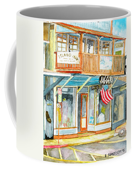 Jaggers Coffee Mug featuring the painting Jaggers by Eric Samuelson