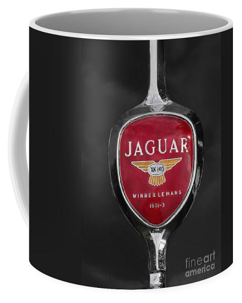 Jaguar Coffee Mug featuring the photograph Jaguar Medallion by Neil Zimmerman