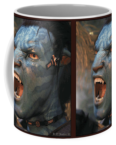 3d Coffee Mug featuring the photograph Jake Sully - Gently cross your eyes and focus on the middle image by Brian Wallace