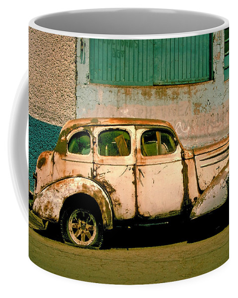 Skip Coffee Mug featuring the photograph Jalopy by Skip Hunt