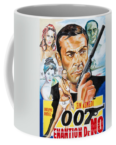 Bond Posters Coffee Mug featuring the painting James Bond Dr.no 1962 by Spiros Soutsos
