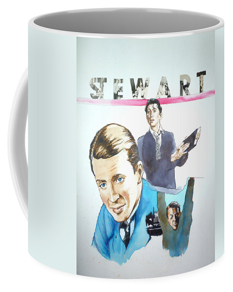James Stewart Coffee Mug featuring the painting James Stewart by Bryan Bustard