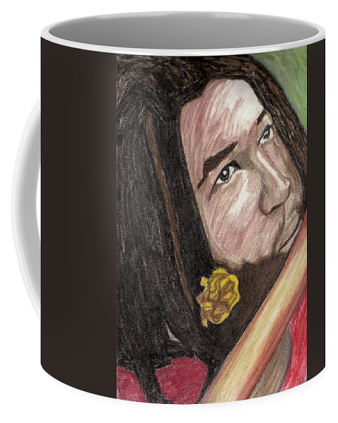 Man Coffee Mug featuring the pastel Jammin by Jean Haynes