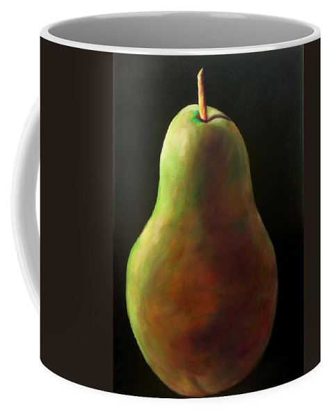 Pear Coffee Mug featuring the painting Jan by Shannon Grissom