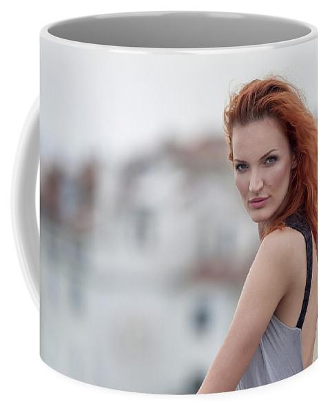 Portrait Coffee Mug featuring the photograph Jana by Robert Krajnc