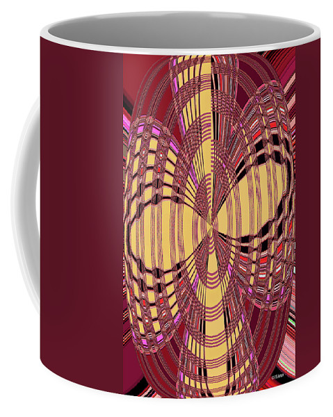 Janca Red And Yellow Abstract Coffee Mug featuring the digital art Janca Red And Yellow Abstract by Tom Janca