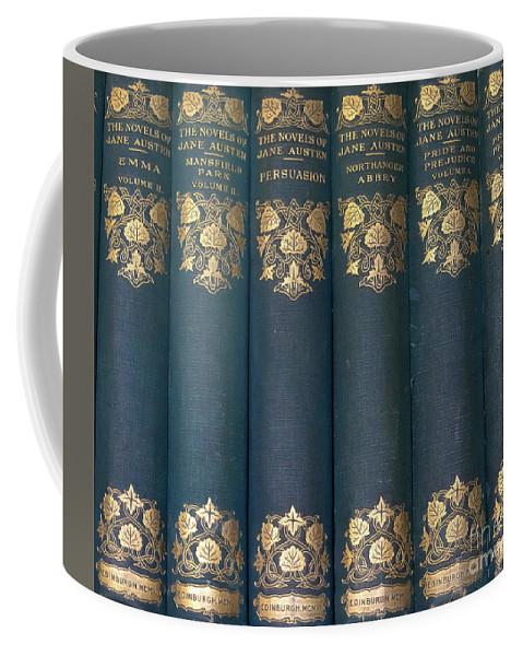 Jane Austin Coffee Mug featuring the photograph Jane Austain Books by Catherine Balfe