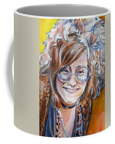 Janis Joplin Coffee Mug featuring the painting Janis Joplin by Bryan Bustard