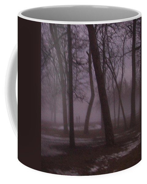 January Coffee Mug featuring the photograph January Fog 1 by Anita Burgermeister