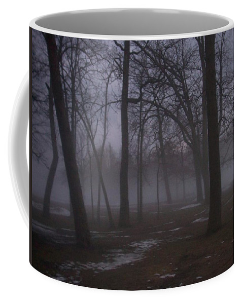 January Coffee Mug featuring the photograph January Fog 2 by Anita Burgermeister